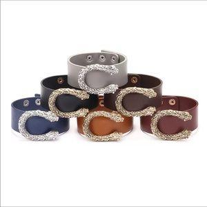 Beautiful Leather Leopard Buckie Bracelets w/Snaps
